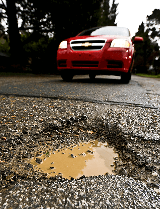 Road repair is a major infrastructure challenge for the Bay Area.