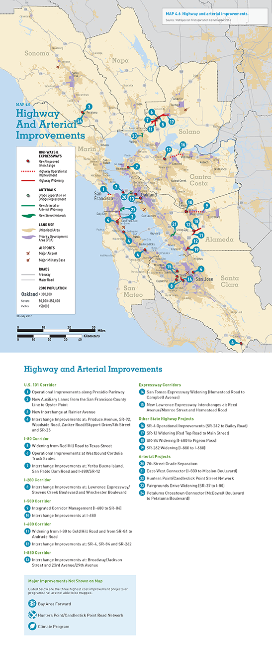 MAP 4.6 Highway and Arterial Improvements